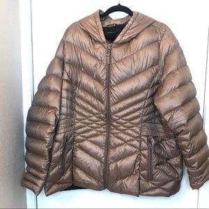 ⭐️Lane Bryant Rose Gold Packable Puffer Used Cond.